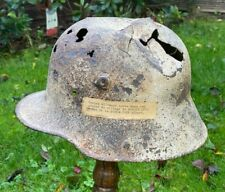 More details for ww1 german m16 steel helmet relic,ex french museum somme all original