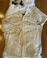 Ralph Lauren Men's Classic Fit Striped L/S Button Down Shirt Size 17 1/2 34/35