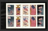 Old Glory Flag Stamps 2003 Mint NH Booklet Pane of 10Self Adhesive #3776 - 3780