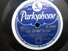 LOUIS ARMSTRONG You Can Depend on Me/Body and Soul Parlophone 78RPM IMPORT