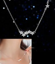 """Pendant Necklace Chain Gift Box I32 16""""-17"""" Sterling silver Cubic Zircon Star"""