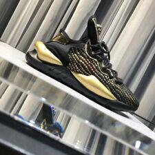 2019 Y-3 Yohji Yamamoto Kaiwa Light Weight Lace Up Gold Stripe Trainers Shoes