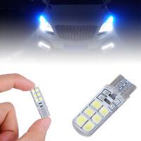 Silicona Blanco Bombilla LED T10 12smd 2835 Luz del coche Lampara de licencia