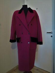 Vintage Ungaro Made in Italy purple wool alpaca coat Solo Donna Size 40 Uk 14 M