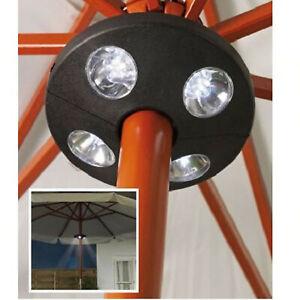 Florabest LED Gartenschirmleuchte mit 24 sparsamen LEDs für Stäbe Ø 28-48mm