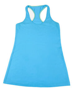 LULULEMON Racerback Tank Top Shirt Womens Size 10 Aqua Blue