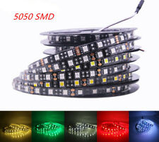 12V LED Strip 5050 60 LEDs/m Flexible Black PCB LED light RGB /Warm White/Red