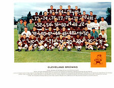 CLEVELAND BROWNS 8X10 TEAM PHOTOS LOT SET OF 4  1962 1964 1965 1966 FOOTBALL