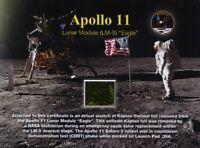 Apollo 11 Lunar Module Kapton Foil - Gorgeous Certificate
