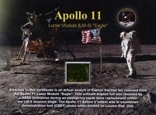 Apollo 11 Lunar Module Kapton Foil on Gorgeous Certificate + Free Apollo 11 Gift