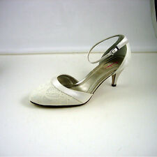 Rainbow Club Mid Heel (1.5-3 in.) Peep Toes Bridal Shoes