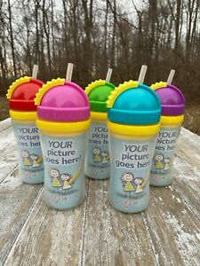 Playtex Create My Own Cup Toddler Baby Sippy Straw Picture Drawing PICK UR COLOR