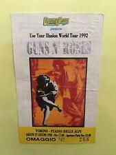GUNS N' ROSES- Rarissimo Biglietto Omaggio Concerto Di Torino Del 27/06/1992