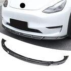 For Tesla model Y Glossy Carbon Fiber Style Front Bumper Lip Body Kit Spoiler