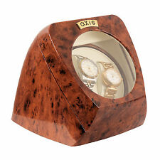 AXIS ® Burl Double Automatique 2 Watch Winder Rotateur nouveau