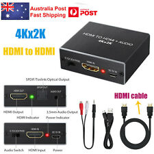 4KX 2K HDMI to HDMI & Optical SPDIF Extractor Converter 3.5MM 5.1CH+ HDMI Cable