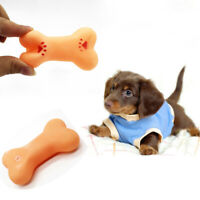 Small Dog Play Puppy Soft Rubber Teeth Training Squeaky Bite Bone Pet Chew Toy