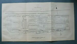 SHD) 2x Frankfurt a Main 1909 Schlachthof Viemarkt Lageplan Architektur 26x51 cm