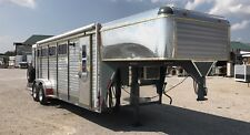 Two Horse Slant Trailer With Living Quarters A/C Completely Redone