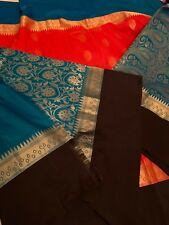 Indian Banarasi Sari /Katan/ Bridal KANCHIPURAM Patli Pallu Silk Saree 15