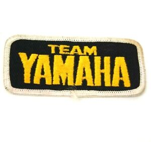 Team Yamaha Iron On Patch Rare Embroidered race hat jacket shirt NOS Vintage Old