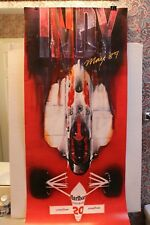 INDY 500 MARLBORO POSTER 1989 OVERSIZED 20 X 50 INDY CAR EXCELLENT