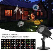 14 Pattern Motion Christmas Landscape Lights Projector Led Spotlight Waterproof'