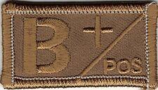 Desert Brown / Tan Blood Type B+ Positive Patch VELCRO® BRAND Hook Fastener Comp