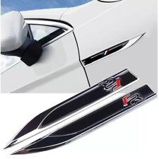 Quality 3D Metal Black FR Seat Leon Emblem Fender Side Badge Stickers X2 🇬🇧