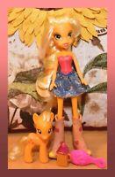 "❤️My Little Pony MLP Equestria Girls Original Applejack 3"" Brushable Doll Set❤️"
