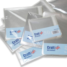 """100 Clear Cellophane Cello Greeting Cards Bags 14/"""" x 18.25/"""""""