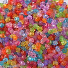 2000 Misto Distanziatori Perle Perline Bicono Sfaccettate in Acrilico 4x4mm