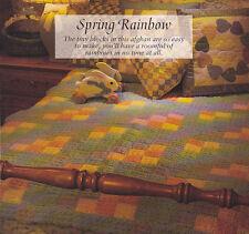 Crochet Pattern ~ SPRING RAINBOW Afghan ~ Instructions