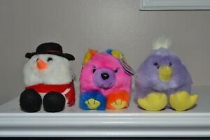 Puffkins LOT of 3 Cosmo, Chickity & Flurry Still has original tags attached