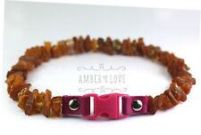 Baltic amber and clasp anti-tick anti flea pet Dog/Cat Collar UNPOLISHED