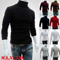 Fashion High Neck Silm Jacket Jumper Men Knit Pullover Coat Long Sleeve Sweater