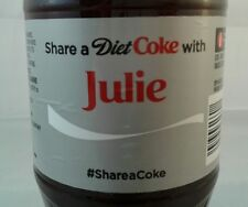Share A Diet Coke With Julie Limited Edition Coca Cola Bottle 2014 USA