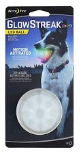 Nite Ize GSB-07-R7 GlowStreak Motion-Activated LED Dog Fetch Ball, Disc-O