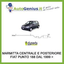 MARMITTA SILENZIATORE POSTERIORE E CENTRALE FIAT PUNTO 188 1.2 8/16V NATUR POWER
