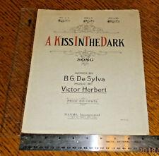 A Kiss in the Dark No 2 in D 1922 B. G. De Sylva & Victor Herbert Sheet Music