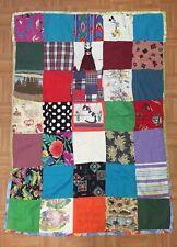 "Vintage Handmade Baby Quilt Nap Child Security Blanket 39"" X 53"" Gryffindor"