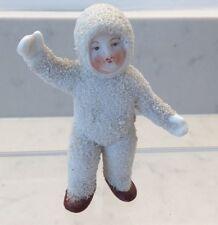 Antique German 3 inch Standing Snow baby Boy  Original Vintage Bisque  VGC