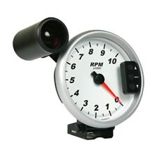 """Marshall 3296 5"""" Tachometer w/ Shift Light and Recall- 0-10,000 RPM - White Face"""