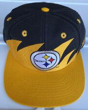 Vintage 90s Pittsburgh Steelers Logo Athletic Blackdome Sharktooth Snapback Hat