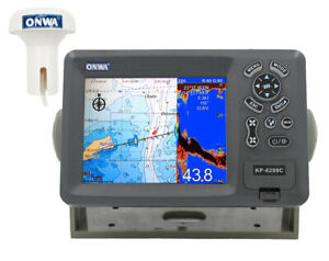 "ONWA KP-6299C: 5.6"" GPS Chart Plotter w/ built-in Fish Finder"