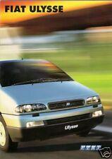 Fiat Ulysse 2000-2002 UK Market Sales Brochure 2.0 16v JTD S EL