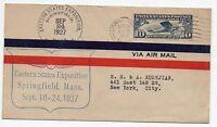1927 STATI UNITI 10 CENTESIMI SU LETTERA DA SPRINGFIELD 24/9 D/3022
