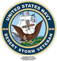 United States Navy Desert Storm Veteran Decal Bumper Sticker USA USN