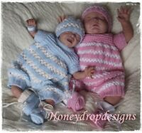 Honeydropdesigns * Trinity * PAPER KNITTING PATTERN * Preemie to 6 Months/Reborn