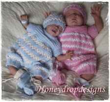 Honeydropdesigns * Trinity * PAPER KNITTING PATTERN * Preemie to 6 Months/Reborn